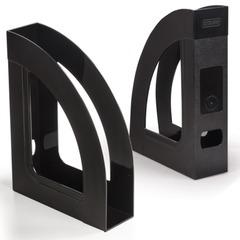 """Лоток вертикальный для бумаг СТАММ """"Респект-эконом"""", ширина 70 мм, полипропилен, черный"""