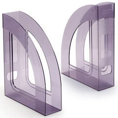 """Лоток вертикальный для бумаг СТАММ """"Респект"""", ширина 70 мм, тонированный серый"""