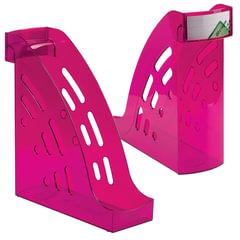 """Лоток вертикальный для бумаг СТАММ """"Торнадо"""", ширина 95 мм, тонированный фиолетовый (слива)"""