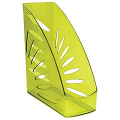 """Лоток вертикальный для бумаг СТАММ """"Тропик"""", ширина 110 мм, тонированный зеленый лайм"""