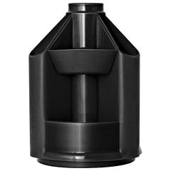 """Подставка-органайзер СТАММ """"Mini Desk"""", вращающаяся, 107х107х140 мм, 10 отделений, черная"""