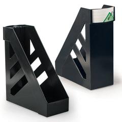 """Лотки вертикальные для бумаг СТАММ, набор 2 шт., """"Ультра"""", ширина 100 мм, черные"""