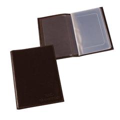 """Бумажник водителя BEFLER """"Грейд"""", натуральная кожа, тиснение """"Auto documents"""", 6 пластиковых карманов, коричневый"""