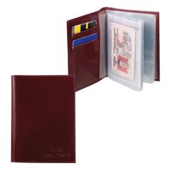 """Бумажник водителя BEFLER """"Classic"""", натуральная кожа, тиснение, 6 пластиковых карманов, коньяк, BV.20.-1"""