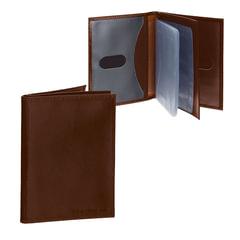 """Бумажник водителя BEFLER """"Classic"""", натуральная кожа, тиснение """"Auto documents"""", 6 пластиковых карманов, коньяк"""