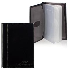 """Бумажник водителя BEFLER """"Classic"""", натуральная кожа, тиснение, 6 пластиковых карманов, черный, BV.25.-1"""
