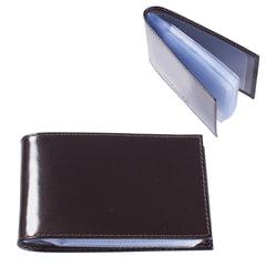 """Визитница карманная BEFLER """"Classic"""" на 40 визитных карт, натуральная кожа, коричневая"""