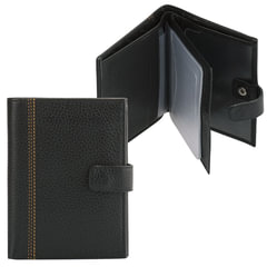 """Бумажник водителя FABULA """"Brooklyn"""", натуральная кожа, отстрочка, 6 пластиковых карманов, черный"""