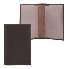 """Обложка для паспорта FABULA """"Largo"""", натуральная кожа, тиснение """"Passport"""", коричневая"""