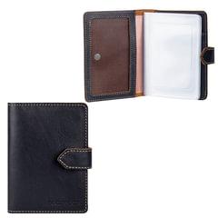 """Бумажник водителя FABULA """"Kansas"""", натуральная кожа, тиснение, 6 пластиковых карманов, кнопка, черный, BV.10.TX"""