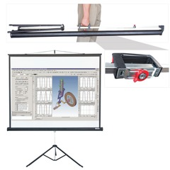 Экран проекционный LUMIEN MASTER VIEW, матовый, на треноге, 127х127 см, 1:1
