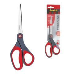 """Ножницы SCOTCH """"Precision"""", 200 мм, для точной резки, эргономичные, подшипник, красные, европодвес"""