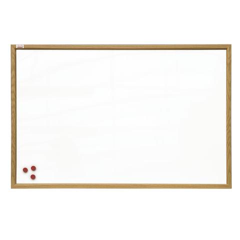 """Доска магнитно-маркерная 90х120 см, коричневая рамка из МДФ, OFFICE, """"2х3"""" (Польша)"""