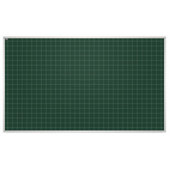 """Доска для мела магнитная, 85x100 см, зеленая, в клетку, алюминиевая рамка, EDUCATION """"2х3""""(Польша)"""