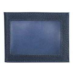 """Обложка для удостоверения BEFLER """"Грейд"""", натуральная кожа, с окном, синий"""