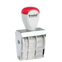 Датер ручной ленточный, оттиск 25х4 мм, месяц буквами, TRODAT 1010