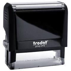 Оснастка для штампа, размер оттиска 70х25 мм, синий, TRODAT 4915 P4, подушка в комплекте
