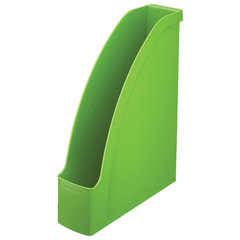 """Лоток вертикальный для бумаг LEITZ """"Plus"""", ширина 78 мм, зеленый, 24760050"""