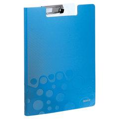 """Папка-планшет LEITZ """"WOW"""", с верхним прижимом и крышкой, A4, 330х230 мм, полифом, синяя"""
