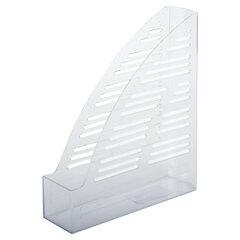 """Лоток вертикальный для бумаг BRAUBERG """"Standard"""", 245х70х295 мм, прозрачный, 237223"""