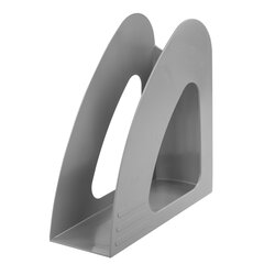 """Лоток вертикальный для бумаг BRAUBERG """"Delta"""", 240х90х240 мм, серый, 237240"""