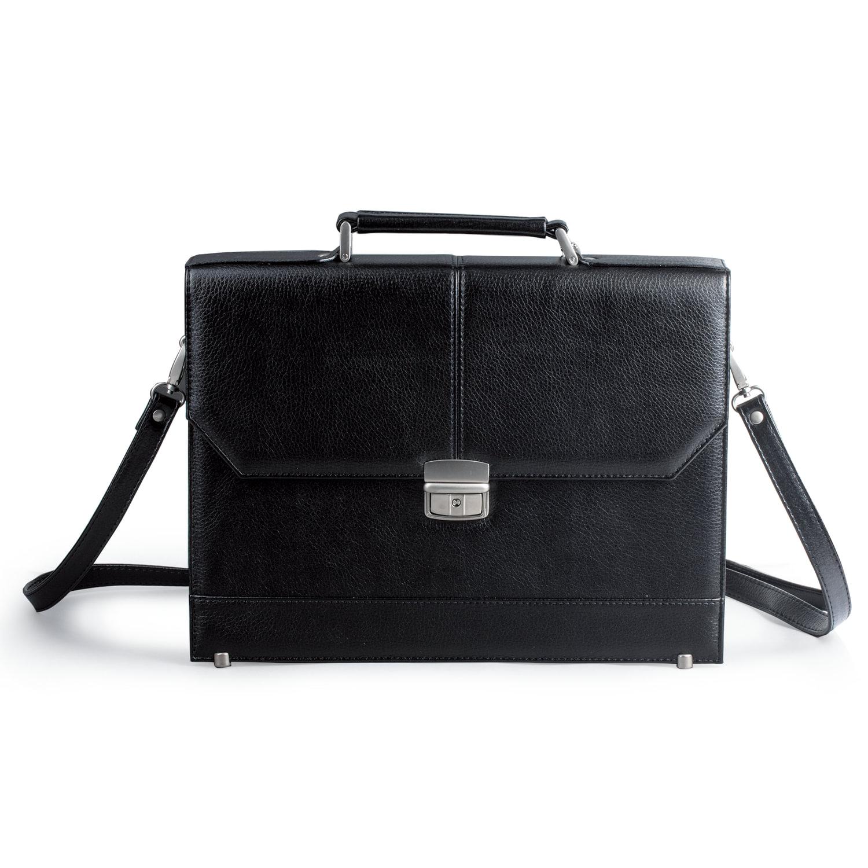 463fb3121e6c Купить Портфель из кожзаменителя, черный 240231 – цена на сайте ...
