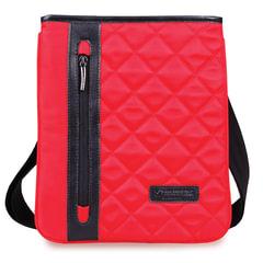 """Сумка-мини на ремне BRAUBERG """"Palermo"""", для повседневной переноски личных вещей, 27х23 см, ткань, красная"""