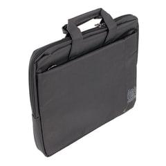 """Сумка деловая CONTINENT CC-215 BK, отделение для планшета и ноутбука 15,6"""", ткань, черная, 39,5x29x7 см"""