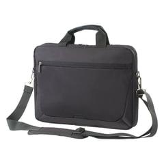 """Сумка деловая SUMDEX PON-111 GY, отделение для планшета и ноутбука 15,6"""", ткань, серая, 39x37,5x5,7 см"""