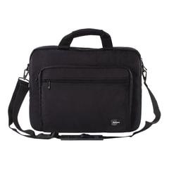 """Сумка деловая SUMDEX NRN-088BK, отделение для планшета и ноутбука 15,6"""", ткань, черная, 40,6x31x10 см"""