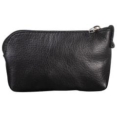 """Футляр для ключей FABULA """"Estet"""", натуральная кожа, на молнии, 75x125x25 мм, черный"""