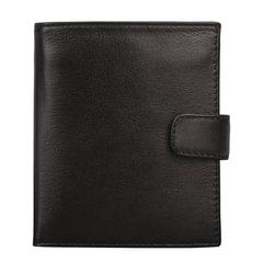 """Портмоне мужское FABULA """"Estet"""", натуральная кожа, застежка-кнопка, 105х112 мм, черное"""