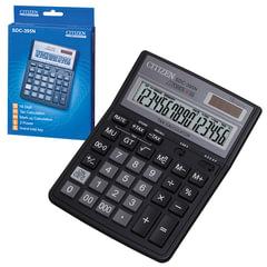 Калькулятор CITIZEN настольный SDC-395N, 16 разрядов, двойное питание, 192х143 мм