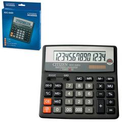 Калькулятор настольный CITIZEN SDC-640II, МАЛЫЙ (156x156 мм), 14 разрядов, двойное питание