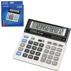 Калькулятор CITIZEN настольный SDC-868L, 12 разрядов, двойное питание, 152х153 мм