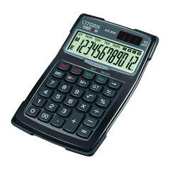 Калькулятор CITIZEN водопыленепроницаемый WR-3000, 12 разрядов, двойное питание, 152x106 мм