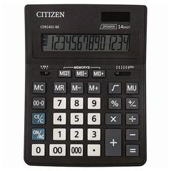 Калькулятор настольный CITIZEN BUSINESS LINE CDB1401BK (200x157 мм), 14 разрядов, двойное питание