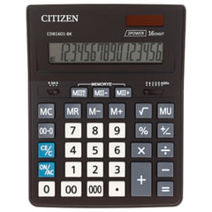 Калькулятор CITIZEN BUSINESS LINE CDB1601BK, настольный, 16 разрядов, двойное питание, 157x200 мм
