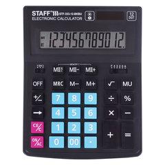 Калькулятор настольный STAFF PLUS STF-333-BKBU ( 200x154 мм) 12 разрядов, ЧЕРНО-СИНИЙ, 250461