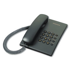 Телефон PANASONIC KX-TS2350RUB, черный, повторный набор, тональный/импульсный режим