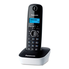 Радиотелефон PANASONIC KX-TG1611RUW, память 50 номеров, АОН, повтор, часы/будильник, радиус 10-100 м, цвет белый