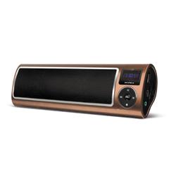 Аудиосистема портативная SUPRA PAS-6255, мощность 5 Вт, FM-тюнер, МР3, WMA, USB/SD/AUX, будильник, диктофон, коричневая
