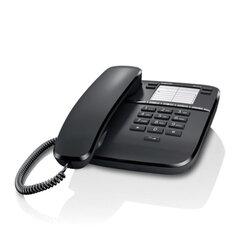 Телефон GIGASET DA310, память 4 номера, повтор номера, тональный/импульсный набор, цвет черный