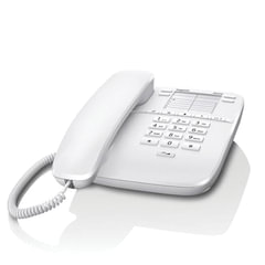 Телефон GIGASET DA310, память на 4 номера, повтор номера, тональный/импульсный набор, цвет белый