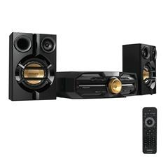 Музыкальный центр PHILIPS FXD18/51, DVD, DivX, VCD, MP3-CD, CD (RW), выходная мощность 300 Вт, USB, Bluetooth, NFC, черный