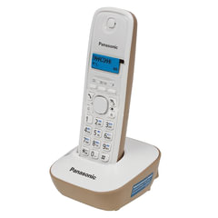 Радиотелефон PANASONIC KX-TG1611RUJ, память на 50 номеров, АОН, повторный набор, часы/будильник, радиус 10-100 м, бежевый