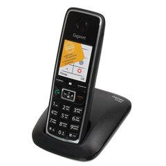 Радиотелефон GIGASET C530 RUS, память на 50 номеров, повтор номера, тональный/импульсный набор, чёрный