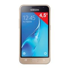 """Смартфон SAMSUNG Galaxy J1, 2 SIM, 4,5"""", 4G (LTE), 2/5 Мп, 8 Гб, microSD, золотой, пласти"""