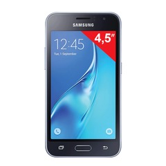 "Смартфон SAMSUNG Galaxy J1, 2 SIM, 4,5"", 4G (LTE), 2/5 Мп, 8 Гб, microSD, черный, пластик"