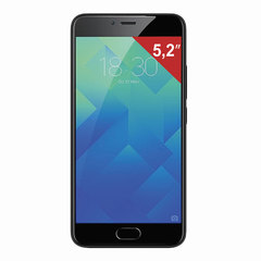 "Смартфон MEIZU M5 M611H, 2 SIM, 5,2"", 4G, 5/13 Мп, 16 Гб, MicroSD, черный, пластик"